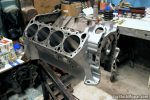"440ci BigBlockMopar 496"" Supercharged Stroker engine block"