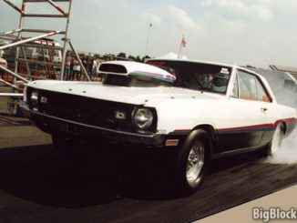 1971 Dodge Dart Burnout at Drachten Airport