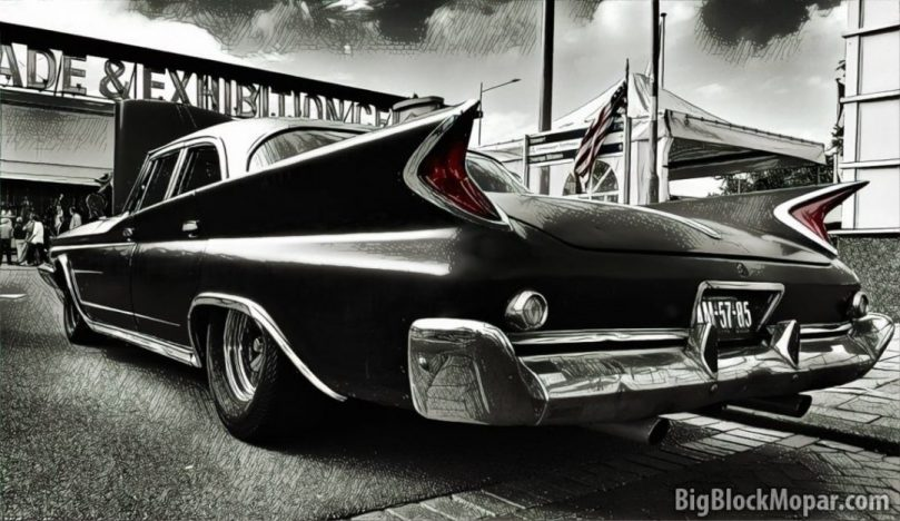 1960 Chrysler NewYorker BlackWhite Photo