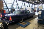 1957 Chrysler Windsor Custom at the RDW (DMV) - Braking test