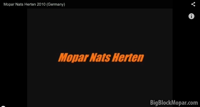 Mopar Nationals Herten Germany Bigblockmopar