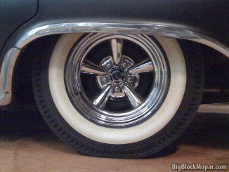 Vintage style Hurst Whitewall pie-crust Racing Tires with Astro Supremes on 1960 Chrysler NewYorker