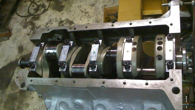 496ci Supercharged blower engine build crankshaft