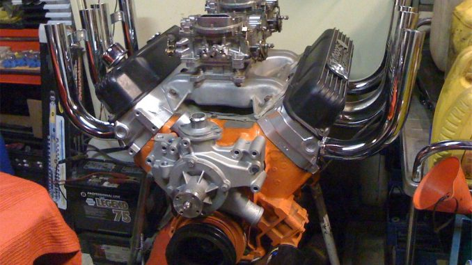 440 engine with 'Zoomie' headers'
