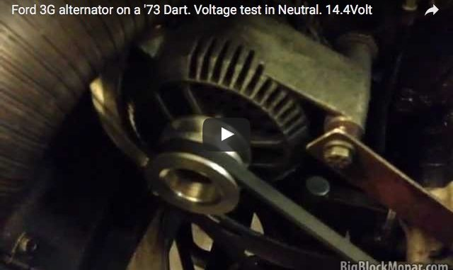 Upgrading alternator-charging with a Ford 3G-alternator