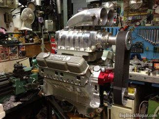 """496"""" BigBlockMopar Supercharged Stroker engine - Mockup"""