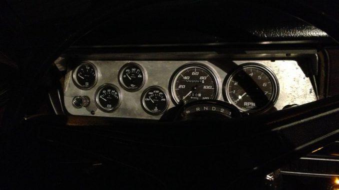 1973 Dodge Dart custom dash gauges