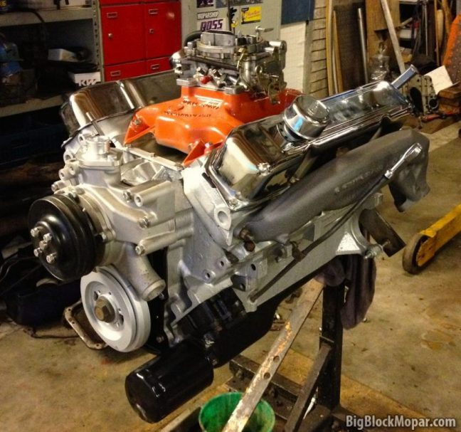 fresh 400ci engine for the 1965 Chrysler 300 convertible