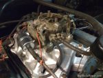 1957 Chrysler Windsor Custom - 4-bbl intake and carb