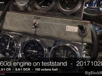 360ci Engine on teststand