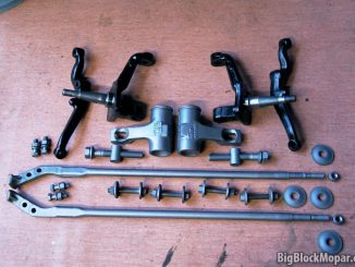 Front suspension rebuild - Painted torsion bars, strut rods and related suspension parts