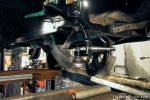 Front suspension rebuild - Lower control arm installed with new ball joint and spindle