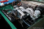 Engine bay filled with almost 500 cubic inches and a pair of long ram intakes