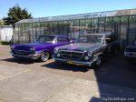 1962 Chrysler NewYorker wagon next to the 1957 Chrysler Windsor