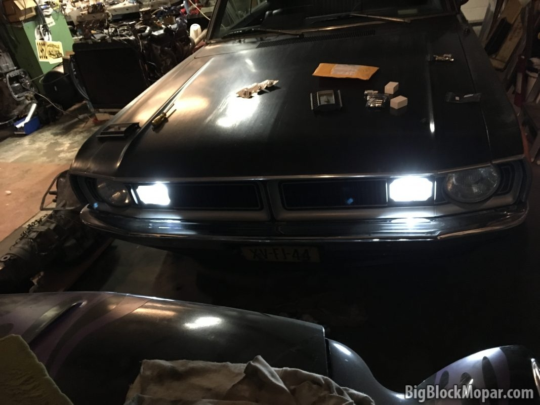 LED turnsignal lighting in the '73 Dart