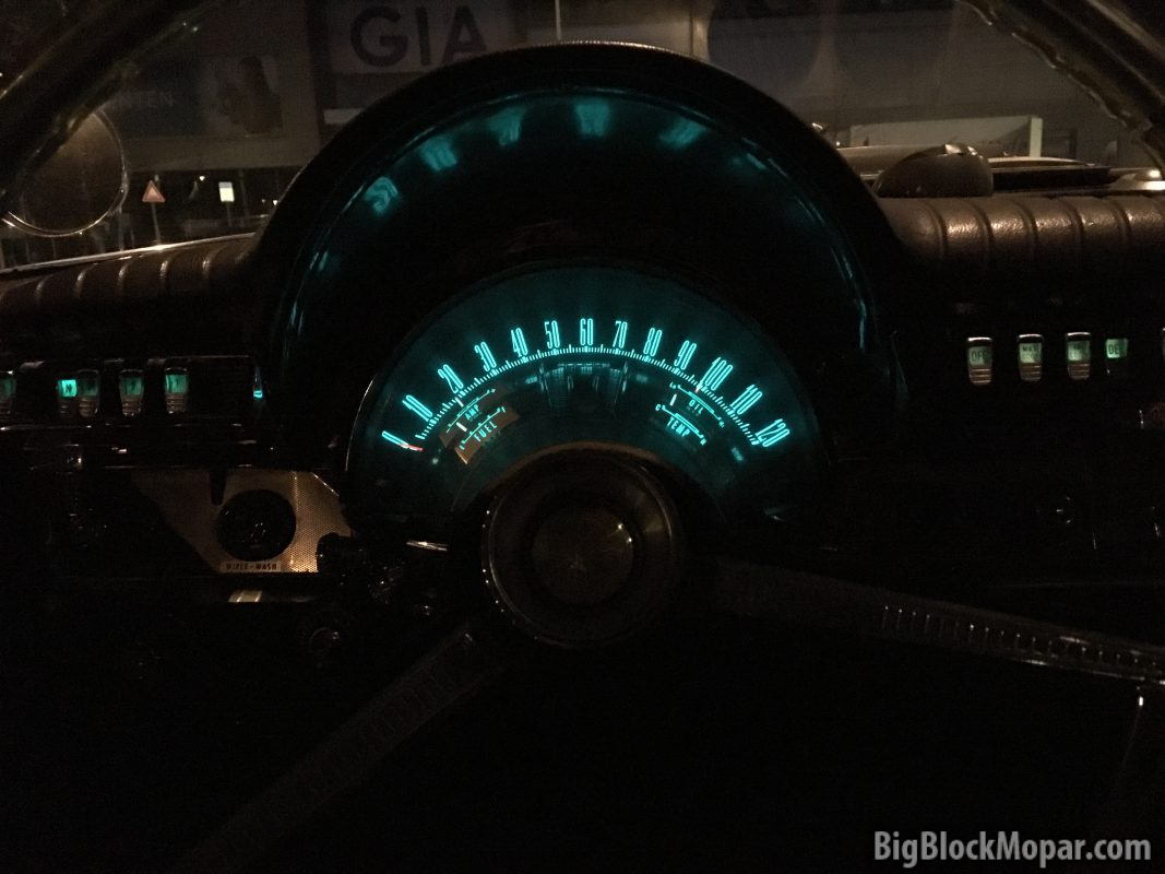 1962 Chrysler NewYorker dash with Electroluminescent lighting