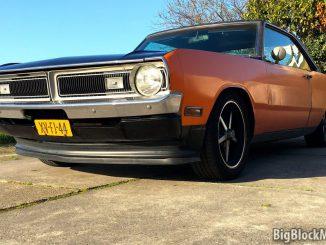 1973 Dodge Dart rubber front spoiler lip extention