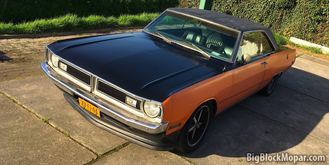 Fresh coat of black paint for the 1973 Dart