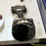 Broken ringland on KeithBlack piston
