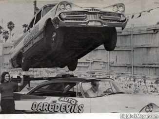 International Auto DareDevils Stuntteam using the 1959 Dodge