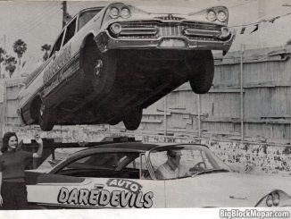 International Auto DareDevils Stuntteam using the 1959 Dodge