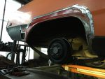 Dodge Dart Rear Fender Trial fitting replacement section