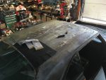 1973 Dodge Dart roof vinyl removal