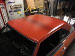 1973 Dodge Dart primered roof 2nd coat