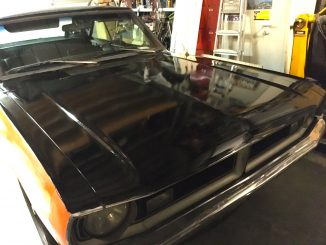 1973 Dodge Dart Trunk and Hood image in Black Paint