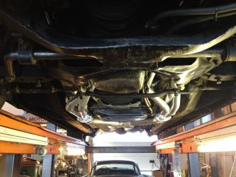 Showing lowest points of exhaust system