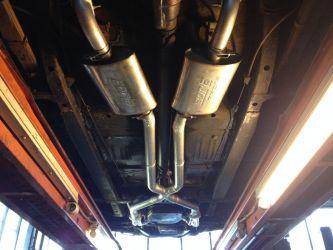 X-pipe with Borla ProXS Mufflers